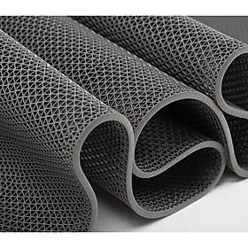 Thảm nhựa lưới chống trơn loại dày màu xám