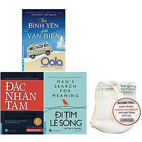 Combo 3 Tựa Sách: Đi Tìm Lẽ Sống ( Tái Bản ) + Tìm Bình Yên Giữa Vạn Biến + Đắc Nhân Tâm (Khổ Lớn)(Ép Tặng Kèm 5 Khẩu Trang)