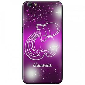 Ốp lưng  dành cho OPPO F1s mẫu Cung hoàng đạo Aquarius (hồng)