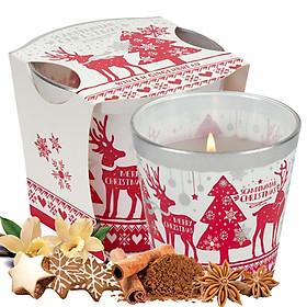 Ly nến thơm tinh dầu Bartek Scandinavian Christmas 115g QT02786 - gừng, táo, quế (giao mẫu ngẫu nhiên)