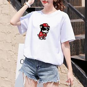 Áo Thun Cổ Tròn YIOOPI 100% Cotton Kiểu Dáng Đơn Giản Cho Nữ - Tùy Chọn Mẫu & Size
