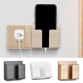 Kệ gắn tường để điện thoại khi sạc, dụng cụ để điện thoại gắn tường