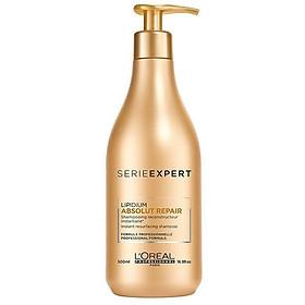 Dầu gội phục hồi tóc L'oreal Serie Expert Absolut Repair Instant resurfacing shampoo 500ml