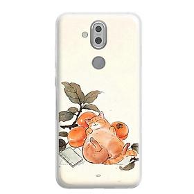 Ốp lưng dẻo Nettacase cho điện thoại Nokia 8.1 - 224 0011 CAT08 - Hàng Chính Hãng