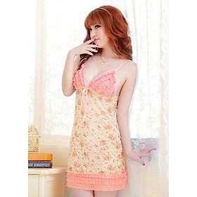 Váy Ngủ Nữ Style Dịu Dàng An10 Hoạ Tiết Hoa Nhỏ - Freesize