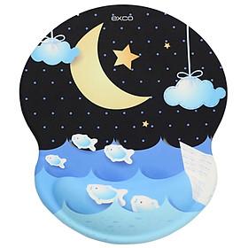 Miếng Lót Chuột Siêu Dày Chống Trượt EXCO MSP016 moon