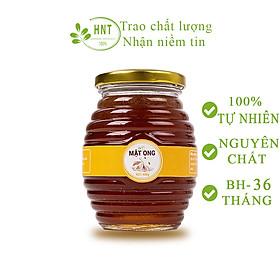 Mật ong nguyên chất HNT 450g, Không đóng đường, 100% tự nhiên hoa nhãn, Không chất bảo quản, Sản phẩm chính hãng, Shop uy tín