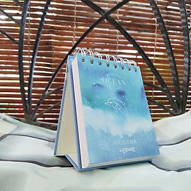 Sổ Kế Hoạch Lò Xo 100 Ngày - 100 Days Daily Planner Notebooks - Đại Dương  (10.6 x 12.4 cm)