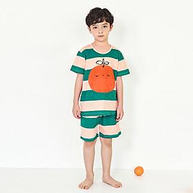 Bộ đồ ngắn mặc nhà bé trai Unifriend Hàn Quốc UniN01 cho bé 1-10 tuổi. Vải cotton organic Korea. Hàng chính hãng