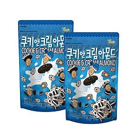 Combo 2 gói Hạnh nhân vị Cookie và Kem Hàn Quốc Tomsfarm Cookie & Cream Almond 190g x 2ea