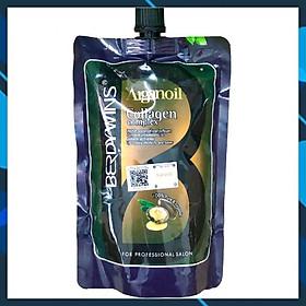Dầu hấp ủ tóc BERDYWINS Argan Oil Collagen Complex phục hồi siêu mượt 500ml