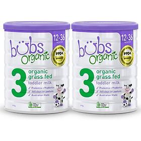 Combo 2 hộp sữa bò hữu cơ Bubs nhập khẩu nguyên hộp từ Úc
