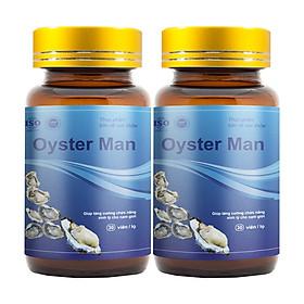 Combo 2 Oyster Man - Hỗ Trợ Điều Trị Yếu Sinh Lý, Xuất Tinh Sớm, Vô Sinh Hiếm Muộn (30V/hộp)