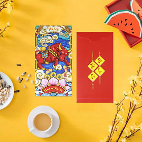 Bao Lì Xì Tân Sửu 2021 - Tấn Tài Tấn Lộc (10 Cái)