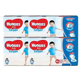 Combo 4 Gói Tã Dán Huggies Dry Gói Đại XL38 (38 Miếng) - Bao Bì Mới