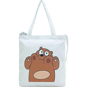 Túi Vải Đeo Chéo Tote Bag Họa Tiết Gấu To XinhStore