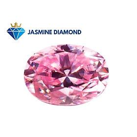 Kim cương nhân tạo Mỹ Moissanite giác cắt Oval màu hồng