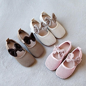 Giày búp bê phối nơ cho bé gái b323