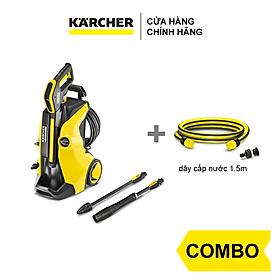 Combo Máy phun rửa áp lực cáo Karcher K 5 Full Control và dây cấp nước 1.5m