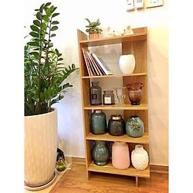 Kệ đứng 5 tầng để  góc tường bằng gỗ, dùng để đựng sách vở, cây cảnh, hồ sơ, tài liệu, văn phòng phẩm và các đồ gia dụng khác- Giao màu ngẫu nghiên