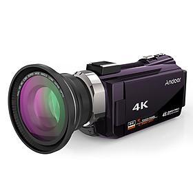Máy Quay Phim 4K 1080P Andoer Tích Hợp Màn Hình Cảm Ứng (48MP)