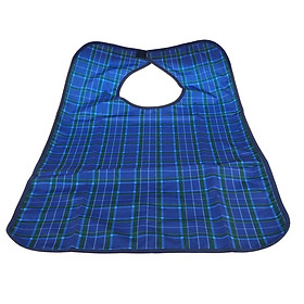 New Waterproof Adults Mealtime Bib Cloth Protector Disability Aid Apron Blue