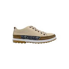 Giày Causual Nam Da Asisa Trắng Viền Kẻ K3303