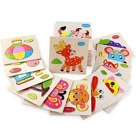 Combo 10 bảng đồ chơi ghép mảnh gỗ tạo hình các con vật cho bé