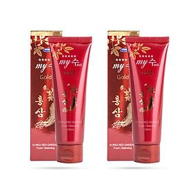 Combo 2 tuýp Sữa Rửa Mặt Hồng Sâm My Gold - Korea Red Ginseng Foam Cleansing (130ml x 2)
