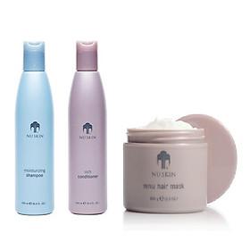 Combo Chăm Sóc Toàn Diện Cho Tóc NuSkin: Dầu Gội Moisturizing Shampoo + Dầu Xả Rich Conditioner + Ủ Tóc Renu Hair Mask