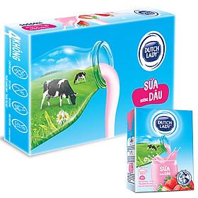 Thùng 48 Hộp Sữa Uống Tiệt Trùng Dutch Lady Cô Gái Hà Lan Dâu (48 x 110ml)