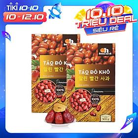Combo 2 Hộp Táo Đỏ Khô Cao Cấp Smile Nuts (500g/hộp)
