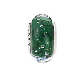 Hình đại diện sản phẩm Hạt charm DIY PNJSilver hình dẹt tròn màu xanh lá 0000K060165-BO