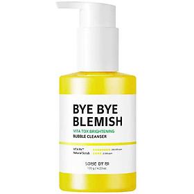 Sữa Rửa Mặt Sủi Bọt Dưỡng Sáng Da Some By Mi Bye Bye Blemish Vita Tox Brightening Bubble Cleanser 120g