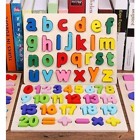 Bảng nổi chữ cái thường - chữ số  nhiều màu sắc giúp bé yêu vừa học tập vừa giải trí
