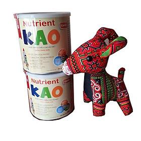 Combo 2 hộp sữa giúp tăng chiều cao cho trẻ nutrient Kao 700g- tặng kèm chú dê nhồi bông vải thổ cẩm đáng yêu.