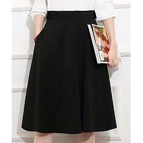 Chân váy Nana xinh xắn, dài qua gối dễ mặc đi làm, dạo phố