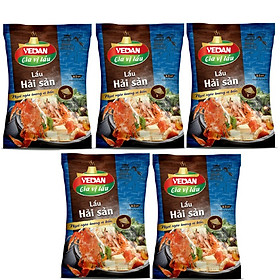 Combo 5 gói gia vị lẩu hải sản Vedan 60g/gói