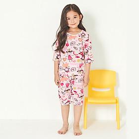 Bộ đồ lửng mặc nhà bé gái Unifriend Hàn Quốc UG015