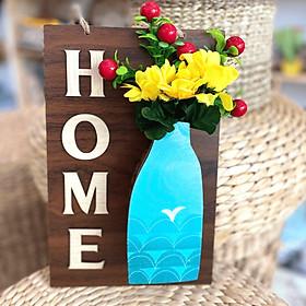 Bảng Gỗ hoa treo tường trang trí Home