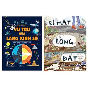 Combo 2 cuốn sách khoa học thiếu nhi :  Kiến Thức Bất Tận - Bí Mật Lòng Đất + Vũ Trụ Qua Lăng Kính Số