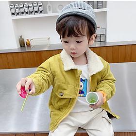 Áo khoác nhung lót lông trẻ em, chất dày dặn, mềm ấm, phong cách Hàn siêu đẹp, có màu cho cả bé trai và gái   MP18