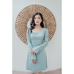 Đầm lụa xanh ánh nhũ Josephine Dress Gem Clothing SP060284
