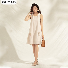 Đầm nữ cao cấp thiết kế suông không tay DA1168 GUMAC
