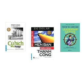 Combo 3 cuốn sách: Cú Hích + Hẹn Bạn Trên Đỉnh Thành Công + Thiên tài lãnh đạo