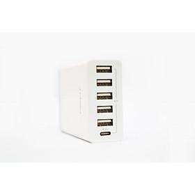 Cốc Sạc Pisen Type-C+5 Port USB Wall Charger - Hàng chính hãng