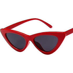 Retro Triangle Cat Eye Sunglasses UV400 Clean Vision Glasses Eyewear Valentine's Day Gift