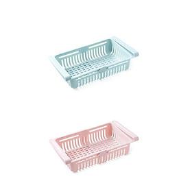 Bộ 2 khay nhựa để tủ lạnh tiện lợi có thể thay đổi kích thước GS00860