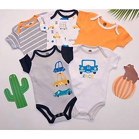 Set 5 body cộc cho bé, quần áo cho bé sơ sinh mùa hè