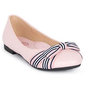 Giày búp bê bé gái Crown Space Crown UK Princess Ballerina CRUK3103 - Màu hồng